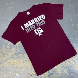 Texas A&M Aggies Married Into This Shirt NCAA Med